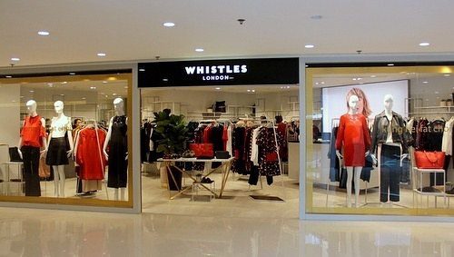 Whistles clothing shop Harbour City Hong Kong.