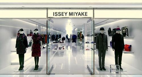 Issey Miyake clothing store Hong Kong.