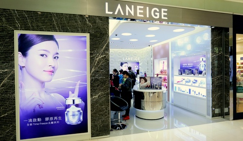 Laneige beauty store Landmark North shopping centre in Hong Kong.