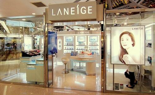 Laneige cosmetics shop Plaza Hollywood Hong Kong.