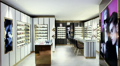Linda Farrow optical store Harbour City Hong Kong.