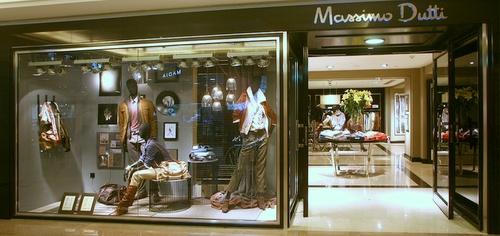Massimo Dutti clothing shop Harbour City Hong Kong.
