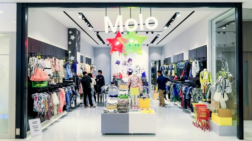 Molo children's clothing store Harbour City Hong Kong.