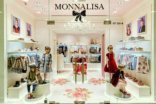 Monnalisa children's clothing boutique Harbour City Hong Kong.