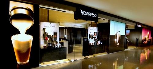 Nespresso store Festival Walk Hong Kong.