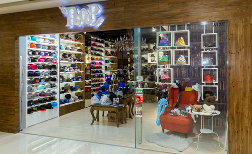 NOP headwear store YOHO Mall Hong Kong.