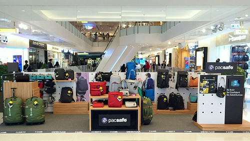 Pacsafe bag shop K11 Art Mall Hong Kong.