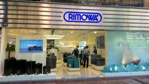 Rimowa shop Tsim Sha Tsui Centre Hong Kong.