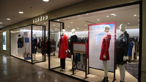 Sandro clothing shop Harbour City Hong Kong.