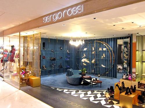 Sergio Rossi shoe shop SOGO CWB Hong Kong.