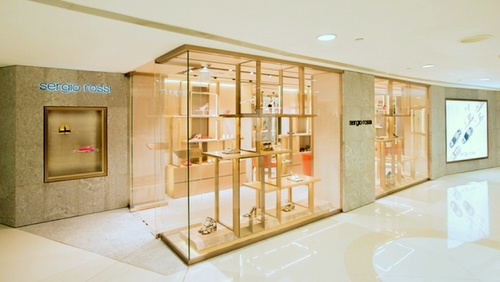 Sergio Rossi shoe store Harbour City Hong Kong.