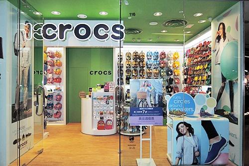 Crocs shoe store Cityplaza Hong Kong.