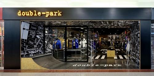 double-park clothing shop Plaza Hollywood Hong Kong.