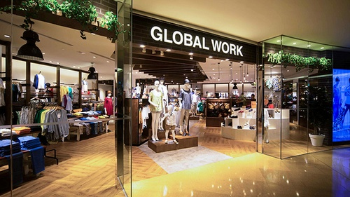 Global Work clothing shop Cityplaza Hong Kong.