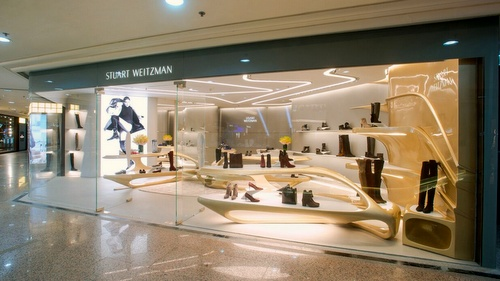 Stuart Weitzman shoe store Times Square Hong Kong.