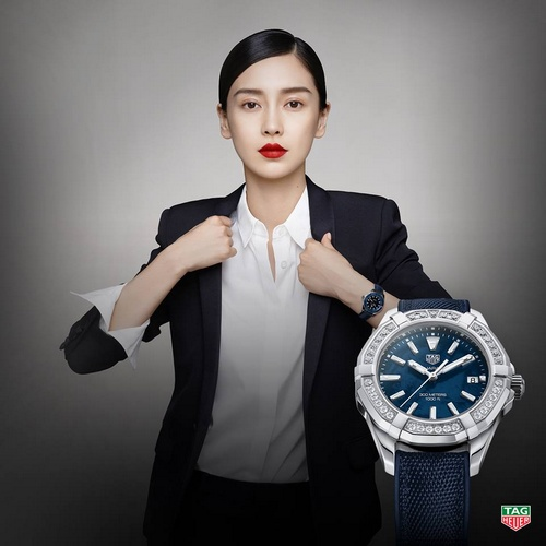 TAG Heuer Aquaracer Lady Diamond Bezel Watch Angelababy Hong Kong.