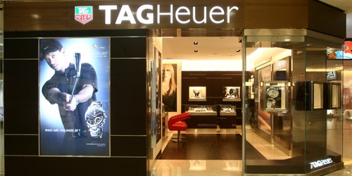 TAG Heuer watch store Harbour City Hong Kong.