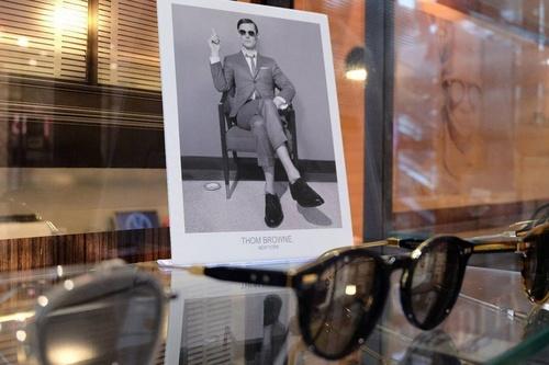 Tom Browne eyewear Visual Culture Hong Kong.