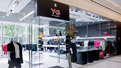 Y-3 clothing shop K11 Hong Kong.