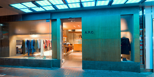 A.P.C. store at Fashion Walk mall in Hong Kong.