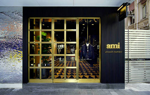 Ami clothing store at Fashion Walk mall in Hong Kong.