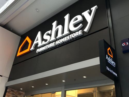 Ashley Furniture Homestore at Fashion Walk mall in Hong Kong.