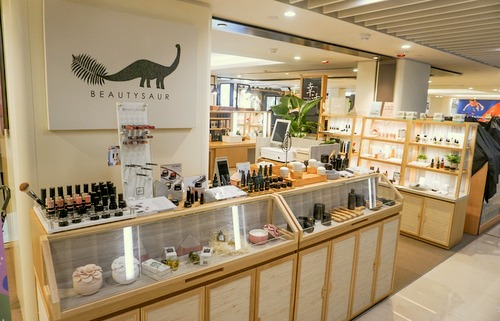 Beautysaur Organics beauty store at Fashion Walk mall in Singapore.