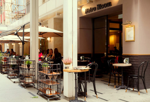 Bistro Bloom restaurant at Fashion Walk mall in Hong Kong.