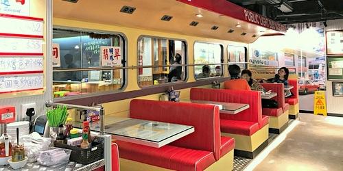 Cafe Match Box restaurant at Fashion Walk mall in Hong Kong.