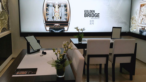 Corum watch shop in Hong Kong.
