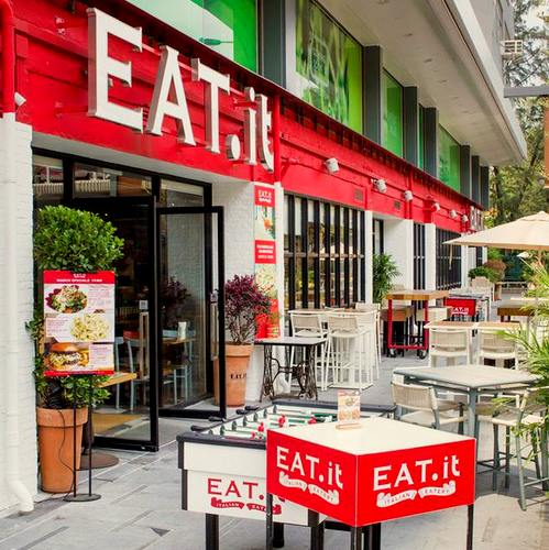 Eat.it Italian restaurant at Fashion Walk in Hong Kong.