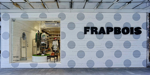 Frapbois clothing boutique at Fashion Walk mall in Hong Kong.
