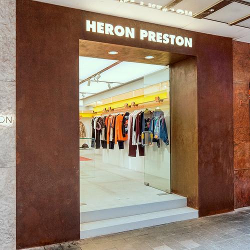 Heron Preston clothing store at Fashion Walk mall in Hong Kong.