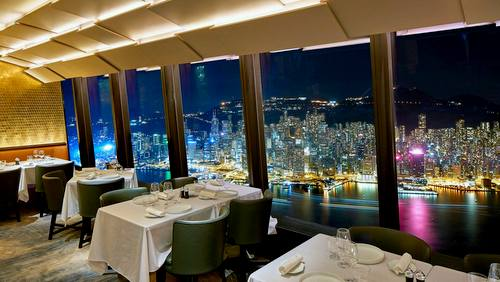 Le 39V Hong Kong French restaurant at International Commerce Centre, Hong Kong.