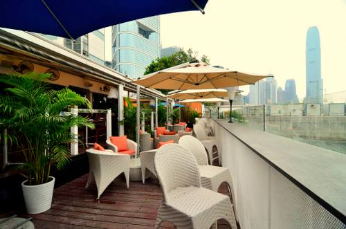 Quayside Harbour Front Restaurant & Bar's terrace in Hong Kong.