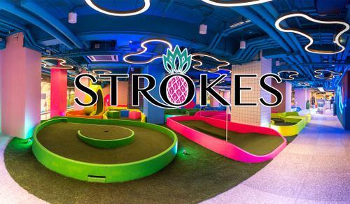 Strokes mini golf & lifestyle centre in Hong Kong.
