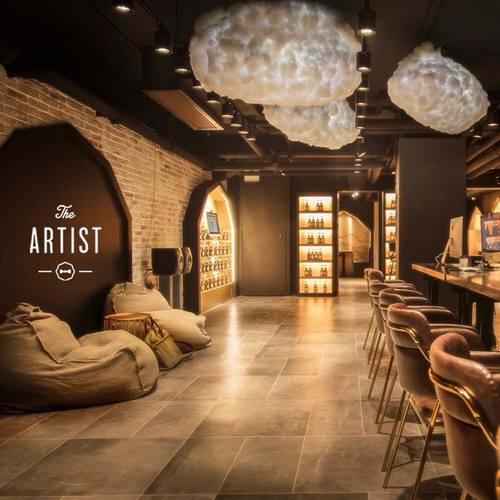 The Artist House craft beer bar at Fashion Walk mall in Hong Kong.