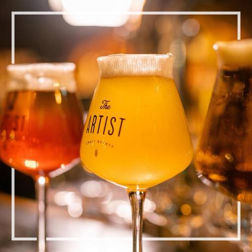 The Artist House craft beer, available in Hong Kong.