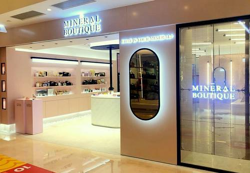 The Mineral Boutique beauty shop at Fashion Walk mall in Hong Kong.
